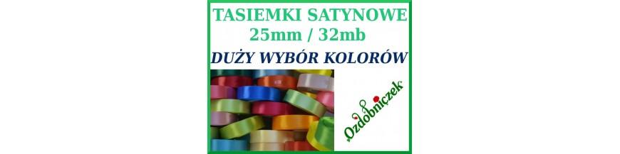 Wstążki tasiemki satynowe 25mm
