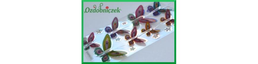 Motylki stickersy